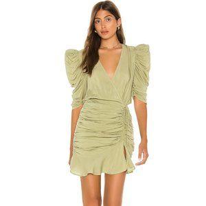 L'Academie The Cherish Mini Dress in Olive NWOT